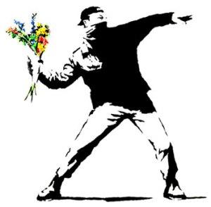 Protester van Banksy