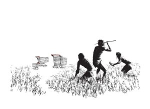 Shopping Trolleys van Banksy